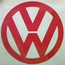 "LARGE Vinyl Volkswagen Decal VW Logo Sticker 10"" Beetle Badge Golf GTI BUG VR6 A"
