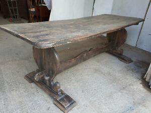 antique,Georgian,refectory,7',table,solid,oak,dining table,seat 10,breakdown,