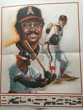 1983 Angels Schedule/Poster; 17x22, Reggie Jackson, Rod Carew, Tommy John