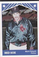 1983 TCMA MINOR LEAGUE BASEBALL PAWTUCKET RED SOX TEAM SET MARK FIDRYCH  *T038