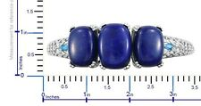 "Lapis Lazuli & Neon Apatite Platinum Over Sterling Silver Bangle; 7.25""; 68.86ct"