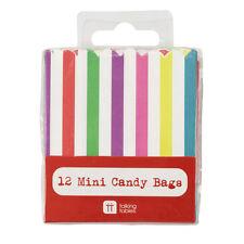 Molto Mini CANDY sacchetti CARAMELLE Multi Colore X 12-SWEET cubicolo EXTRA sacchetti Party