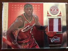 2013-14 Panini Totally Certified  Materials Red Prime Patch 16/25 Lebron James