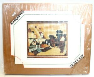 Vtg WORLD OF WOOD 530 A Country Lane Wood Veneers Marquetry Kit BOXED - T06