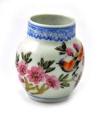 Vintage Porcelain Handmade Hand painted Birdfeeder Bird feeder Bird Flower