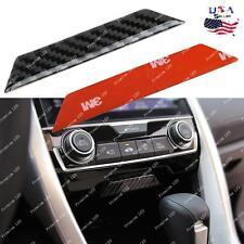 Carbon Fiber Console Storage Box Trim Sticker For Honda Civic Gen 2016 2017
