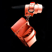 Truewin Hairdressing Scissors 4 pkt Leather Holder Holster Pouch TW 65-9900 Pink