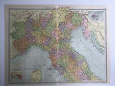 Map Of Italy North Venice Genoa Umbria Elba Carrara  Verona 1930 Large