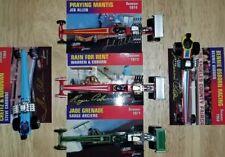 5 * 1998 & 1999 * JOHNNY LIGHTNING TOP FUEL LEGENDS DRAG CARS DIE-CAST w/ card
