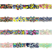 Baby Kids Girls Stretch Bow Hairband Turban Knot Head Wrap Headband Head Scarf