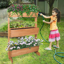 Vertical Raised Garden Bed Elevated Herb Plant Box Growing Vegetable Strawberry