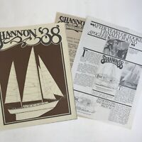 Vintage Sailboat Dealer Sales Brochures Shannon 38 Boat Company Boating