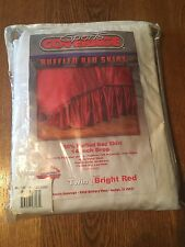 Sports Coverage Twin Bright Red Jersey Ruffled Bed Skirt College Sports Nwt!