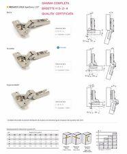 Cerniera Universale Anta Legno per Mobili GAMMA COMPLETA Di Colli e Basette