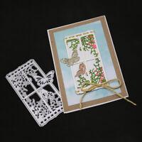 Stanzschablone Fenster Blume Schmetterling Weihnachten Hochzeit Geburtstag Karte