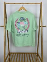 Simply Southern Women's Royalty Of The South Piglet Teal T-Shirt Size XL