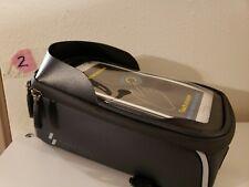 Black Cycling Phone Holder Bag Bike Frame Tube Bag Case for iPhone Samsung