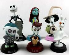 6Pcs The Nightmare Before Christmas Jack Bobblehead Action Figure Cake Topper