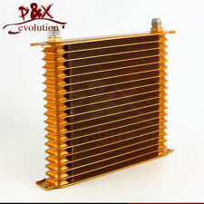 "Universal AN10 Trust 19 Row Engine Oil Cooler 10.6""x12""x2"" For Chevrolet Gold"