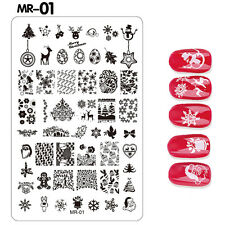2016 Christmas Stamping Manicure Image DIY Nail Art Image Stamp Template Plate Mr-01