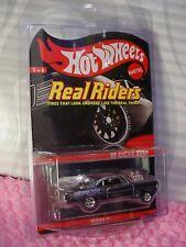 Rare RLC 2012 Hot Wheels '66 SUPER NOVA ✿Black Chrome ✿Real Riders Series 11