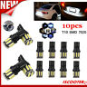 10Pcs T10 White 10 7020-SMD LEDs Car Wedge Panel Light Interior W5W 192 158 194@