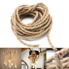 5m Retro Hanf Seil Draht Elektrisch Geflochtener Stoff Verdreht Kabel Leitung