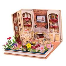 DIY Wooden Dollhouse Miniature Furniture Kits Princess Living Room Best Gift