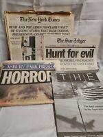 WORLD TRADE CENTER 911 NEWSPAPERS LOT OF 4 - September 11 2001 - Assortment