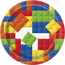 LEGO BUILDING BLOCKS SMALL PAPER PLATES (8) ~ Birthday Party Supplies Dessert
