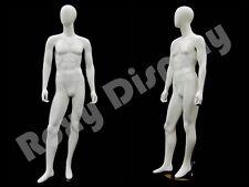 Fiberglass Male Mannequin Egg Head Dress Form Display Md Gm53w2 S