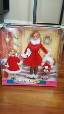 Holiday Sisters Barbie Kelly Stacie 1999