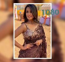 Coffee Color Saree Fabulous Designer Wear For Women Net Fabric Unic LG-1080