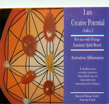 "I AM CREATIVE POTENTIAL Grid Card 4x6"" Heavy Cardstock Use with Healing Crystals"