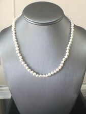 Genuine Fresh Water Pearl Necklace with Sterling Silver Clasp
