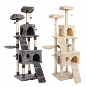 Katlot Cat Jumping Toy with Ladder Scratching Wood Climbing Tree