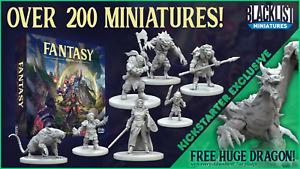Blacklist Miniatures: Fantasy Series 1: Complete Kickstarter set with Dragon