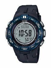 Casio Pro Trek Men's Quartz Triple Sensor Black Band 47mm Watch PRW3100YB-1