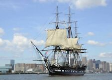 USS Constitution Old Ironsides Cruising Boston Harbor Borderless 8.5x11 Photo