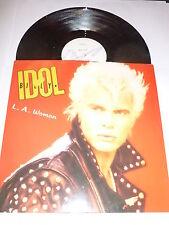 "BILLY IDOL - L.A. Woman - 1990 UK 3-track 12"" vinyl single"