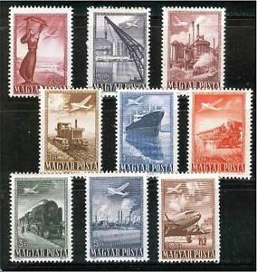 HUNGARY-1950. Airmail (Ship,Airplane,Train) Cpl.Set MNH!! Mi:1120-1128.
