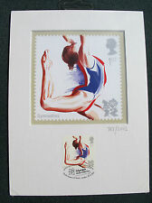 London 2012 Olympic/Paralymic Royal Mail STAMP PRINT ARTWORK GYMNASTICS  Ltd Ed