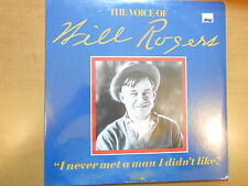 The Voice of Will Rogers ,I Never Met a Man I Didn't Like, 1973 Sealed LP