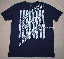 Armani Exchange T Shirt AX Logo Nave Blue Large L NWT