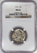 1954 Washington Quarter - NGC MS 64