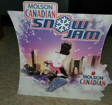 MOLSON CANADIAN BEER SNOW JAM Music Fest Very RARE  Metal Advertising Sign