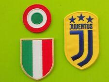 JUVENTUS PATCH GIALLO KIT 3 TOPPE SCUDETTO COPPA ITALIA RICAMATE TERMOADESIVE