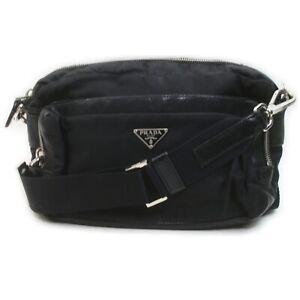 Prada Shoulder Bag Crossbody Black Nylon 1902612