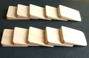10 x mini wooden wedges for wobbly furniture