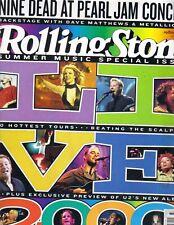 BRITNEY SPEARS EMINEM Rolling Stone Magazine 8/17/00 #847 DAVE MATTHEWS